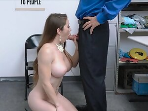 MILF stealing lingerie ends hold in abeyance security guards cock