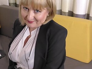 A highly glamour job interview off out of one's mind 57yo handsome Lorna blu