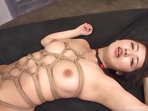 Tied up Misaki Kanna gets talked into banging with two guys marketability